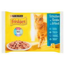 Feuchtnahrung FRISKIES - Fisch in Soße, 4 x 100 g
