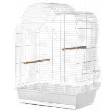 Käfig für Papageien ELIZA, weiß - 54 x 34 x 75 cm