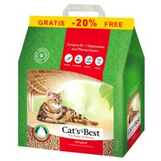 Klumpende Katzenstreu Cat´s Best Original 4,3 kg + 20 % GRATIS
