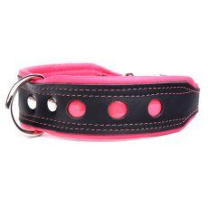 Reflektierendes Halsband Neo, schwarz - pink 4 cm x 61 - 73 cm