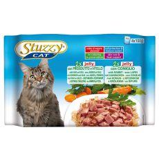 Stuzzy Cat MULTIPACK Schinken und Kalb + Kaninchen in Gelee 4 x 100 g