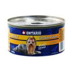 Feuchtnahrung ONTARIO Adult für Hunde, Huhn + Mägen, 200g