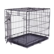 Käfig Dog Cage Black Lux, M - 78,5 x 52,5 x 59 cm