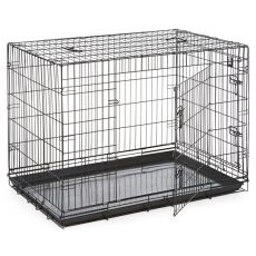 Käfig Dog Cage Black Lux - 2x Türchen, XXL - 125,8 x 74,5 x 80,5 cm