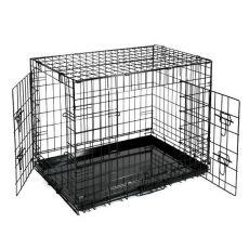 Käfig Dog Cage Black Lux - 2x Türchen, XS - 50,8 x 33 x 38,6 cm