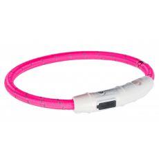 Leuchthalsband LED M-L, pink 45 cm