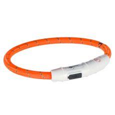 Leuchtendes LED Halsband L-XL, orange 65 cm