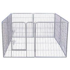 Freilaufgehege Dog Park Grey Lux 8-Element, L - 80 x 80 cm