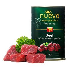 Nassfutter NUEVO DOG Adult Beef 400 g