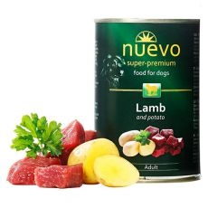 Feuchtnahrung NUEVO DOG Adult Lamb & Potato 400 g