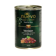 Nassfutter NUEVO DOG Adult Venison Menue 400 g
