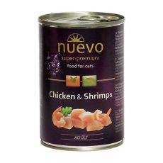 Feuchtnahrung NUEVO CAT Adult Chicken & Shrimps 400 g