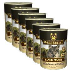 Feuchtnahrung WOLFSBLUT Black Marsh PURE, 6 x 395 g