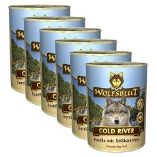 Nassfutter WOLFSBLUT Cold River, 6 x 395 g