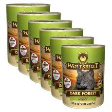 Nassfutter WOLFSBLUT Dark Forest, 6 x 395 g