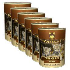Nassfutter WOLFSBLUT Deep Glade PUPPY, 6 x 395 g