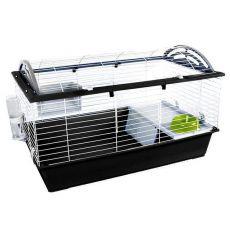 Käfig für Hasen und Meerschweinchen CASITA 120, schwarz