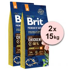 Brit Premium by Nature Junior Medium 2 x 15 kg