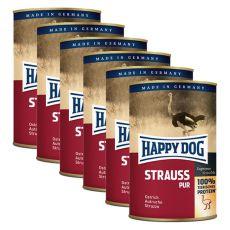 Happy Dog Pur - Strauss, 6 x 400g, 5+1 GRATIS