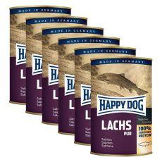 Happy Dog Pur - Lachs 6 x 400 g / Lachs, 5+1 GRATIS