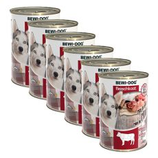 New BEWI DOG Nassfutter – Rindfleisch 6 x 400 g, 5+1 GRATIS