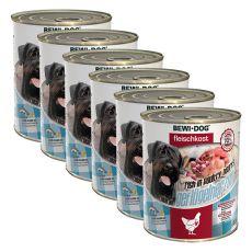 New BEWI DOG Feuchtnahrung – Geflügelherzen 6 x 800 g