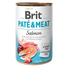 Nassfutter Brit Paté & Meat Salmon, 400 g