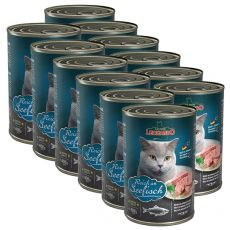 Dosenfutter für Katze Leonardo - Fisch 12 x 400g