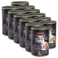 Dosenfutter für Katze Leonardo - Kaninchen 12 x 400g