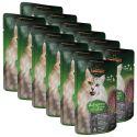 Feuchtnahrung Leonardo Känguru und Catnip, 12 x 85 g