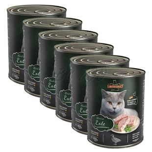 Feuchtnahrung für Katzen Leonardo, Ente 6 x 800 g