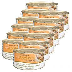 Applaws Cat Jelly - Dose für Katzen mit Hühnerfleisch und Makrele, 12 x 70g