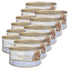 Applaws Cat - Dose für Katzen mit Thunfisch und Käse, 12 x 70g