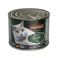 Feuchtnahrung für Katzen Leonardo, Ente 200 g