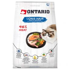 Ontario Cat Long Hair Duck & Salmon 2 kg