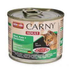 Feuchtfutter CARNY ADULT mit Rind, Pute und Kaninchen - 200 g