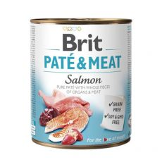 Nassfutter Brit Paté & Meat Salmon, 800 g