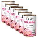 Feuchtnahrung Brit Paté & Meat PUPPY 6 x 400 g