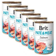 Nassfutter Brit Paté & Meat Salmon 6 x 400 g