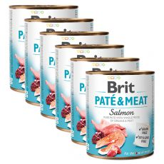 Nassfutter Brit Paté & Meat Salmon 6 x 800 g