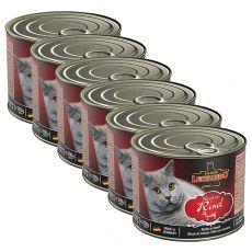 Nassfutter für Katzen Leonardo, Rind 6 x 200 g