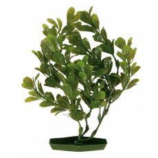 Aquariumpflanze aus Kunststoff, 25 cm - runde grüne Blätter
