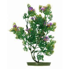 Aquariumpflanze aus Kunststoff, 25 cm violett Blüten