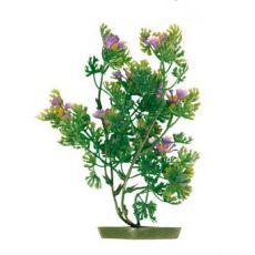Aquariumpflanze aus Kunststoff - violett Blüten, 17 cm