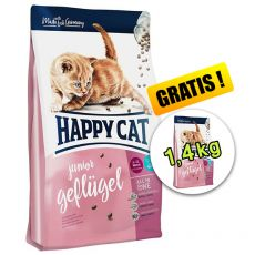 Happy Cat Supreme Junior Geflügel 1,4 kg + 1,4 kg GRATIS