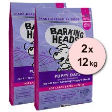 BARKING HEADS Puppy Days PUPPY LARGE BREED 2 x 12 kg