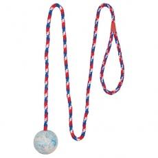 Hundespielzeug - 5 cm Ball mit Seil
