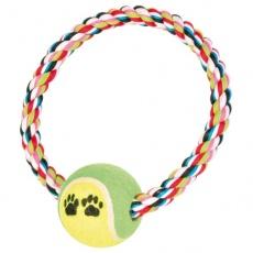 Baumwollseil in Kreisform mit Tennisball - 18cm