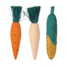 Spielzeuge aus Holz für Nager - 3Stk. Gemüse - 10 cm