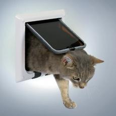 Türchen für Katze, mit vier Positionen - weiß